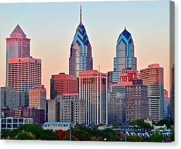 Colorful Sunset In Philadelphia Canvas Print