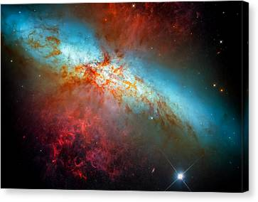 Colorful Supernova Explosion Canvas Print by Jennifer Rondinelli Reilly - Fine Art Photography