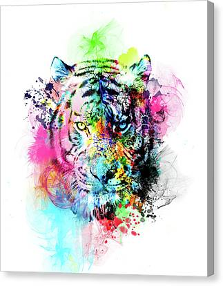 Tiger Canvas Print - Colorful Tiger by Bekim Art
