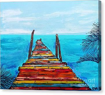 Colorful Tropical Pier Canvas Print