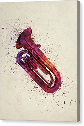 Colorful Tuba 03 Canvas Print by Aged Pixel