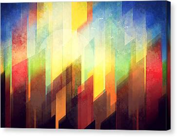 Colorful Urban Design Canvas Print by Thubakabra