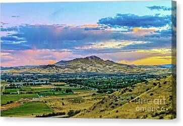 Colorful Valley Canvas Print by Robert Bales