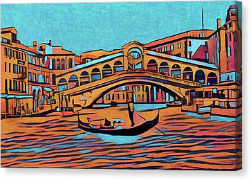 Colorful Venice Canvas Print by Dan Sproul