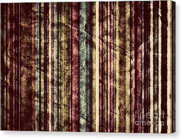 Colorful Vertical Stripes Background In Vintage Retro Style  Canvas Print
