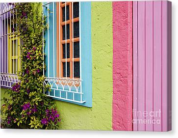 Window Bars Canvas Print - Colorful Walls by Jeremy Woodhouse