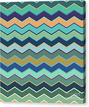 Colorful Wave II Canvas Print by Amir Faysal