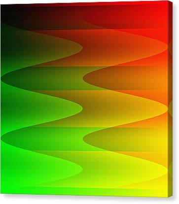 Canvas Print featuring the digital art Colorful Waves by Kathleen Sartoris