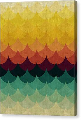 Tropical Sunset Canvas Print - Colorful Waves by Vitor Costa
