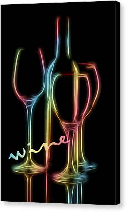 Wine Glasses Canvas Print - Colorful Wine by Tom Mc Nemar