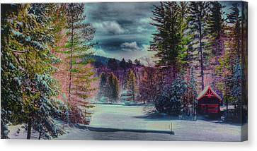 Canvas Print featuring the photograph Colorful Winter Wonderland by David Patterson