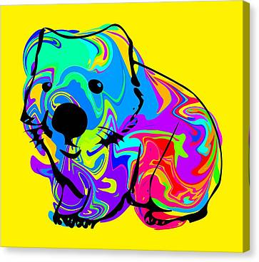 Colorful Wombat Canvas Print by Chris Butler