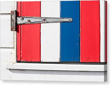 Colorful Wooden Shutter Canvas Print by Tom Gowanlock