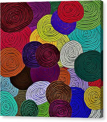 Artisan Canvas Print - Colorful Yarn Art by Barbara Chichester