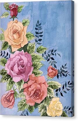 Colorfull Roses Canvas Print by Alban Dizdari