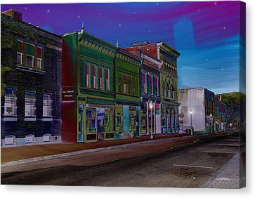 Coloring Of Bank Street Canvas Print
