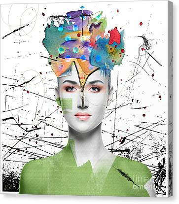 Canvas Print featuring the digital art Colorist by Nola Lee Kelsey