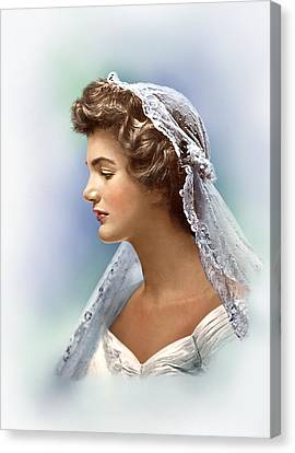 Portratis Canvas Print - Colorized Jacqueline Bouvier Kennedy 1953 by Alex Lim
