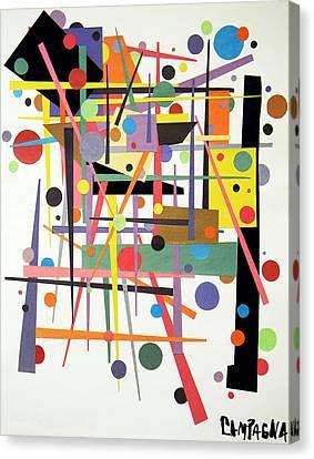 Colorpop 1 Canvas Print by Teddy Campagna