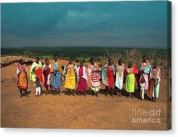 Canvas Print featuring the photograph Colors And Faces Of The Masai Mara by Karen Lewis