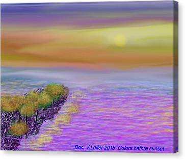 Colors Before Sunset Canvas Print by Dr Loifer Vladimir