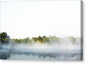Colors In Fog Canvas Print by Shelby Young
