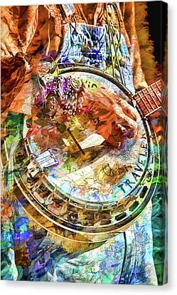 Colors Of A Banjo Busker Canvas Print