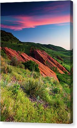Canvas Print featuring the photograph Colors Of A Colorado Spring Sunrise by John De Bord