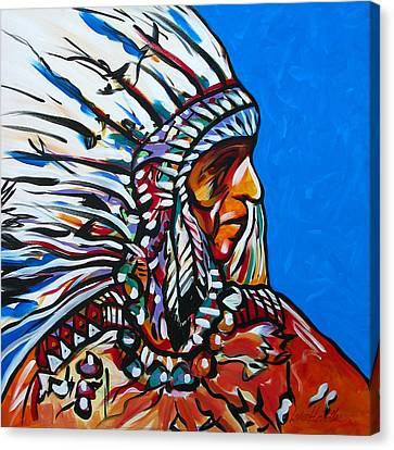 Colors Of A Feather Canvas Print by Lance Headlee