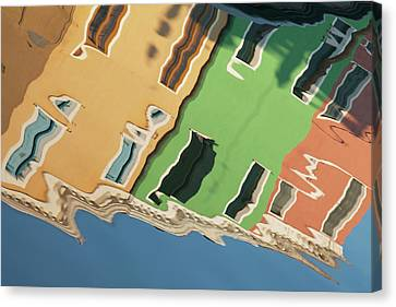 Colors Of Burano 2 Canvas Print by Art Ferrier