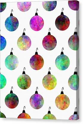 Decorated For Christmas Canvas Print - Colors Of Christmas by Kathleen Sartoris