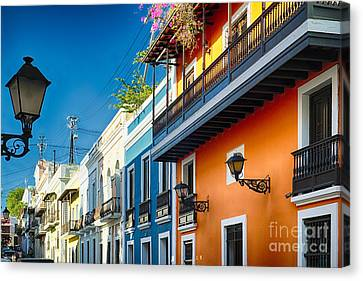 Colors Of Old San Juan II Canvas Print by George Oze