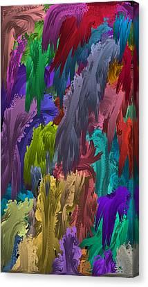 Colors Of Palette Water Colors Canvas Print
