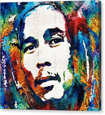 Colors Of Reggae - Bob Marley Tribute Canvas Print