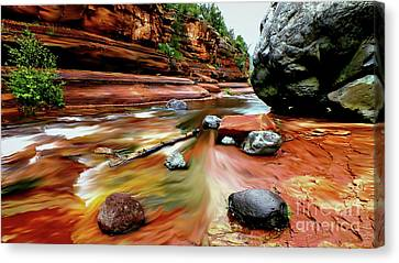 Slide Canvas Print - Colors Of Sedona by Chandra Nyleen