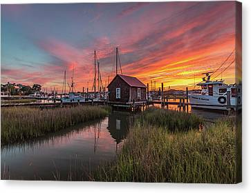 Colors Of Shem Creek - Mt. Pleasant Sc Canvas Print
