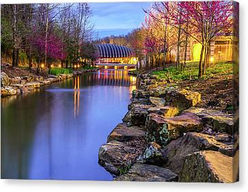 Colors Of Spring At Crystal Bridges Museum Of Art - Arkansas Canvas Print