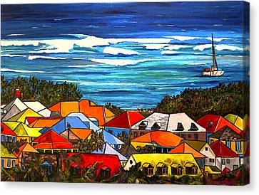 Colors Of St Martin Canvas Print by Patti Schermerhorn