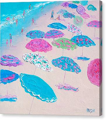 Colors Of The Beach Canvas Print by Jan Matson
