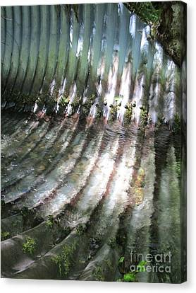 Canvas Print featuring the photograph Colors Of The Culvert by Marie Neder