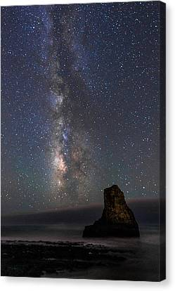 Canvas Print featuring the photograph Colors Of The Night by Alex Lapidus