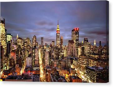 Colors Of The Night Canvas Print by Evelina Kremsdorf