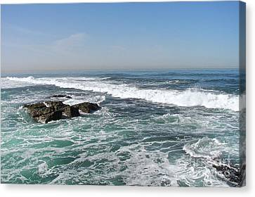 Canvas Print featuring the photograph Colors Of The Sea by Carol  Bradley