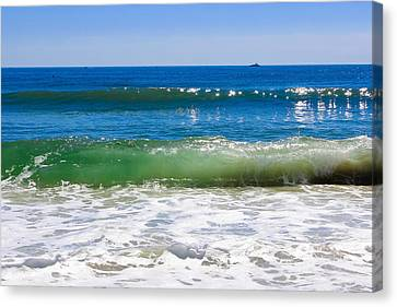 Colors Of The Sea Canvas Print by Colleen Kammerer