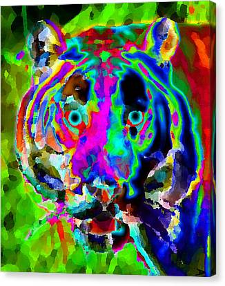 Colors Of The Tiger Canvas Print by David Lee Thompson