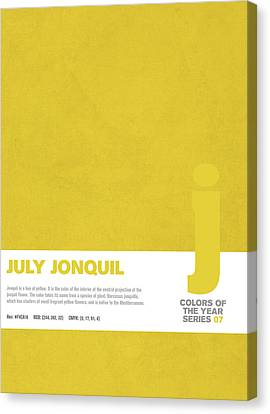 Colors Of The Year Series 07 Graphic Design July Jonquil Canvas Print