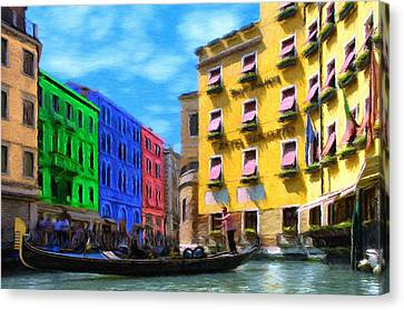 Colors Of Venice Canvas Print by Jeffrey Kolker