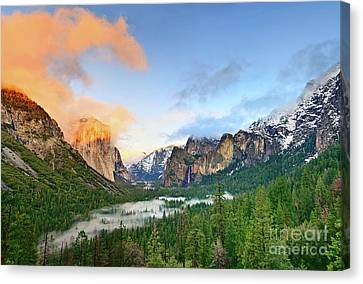 Yosemite Valley Canvas Print - Colors Of Yosemite by Jamie Pham