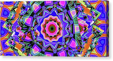 Canvas Print featuring the digital art Colors O're Laid by Ron Bissett