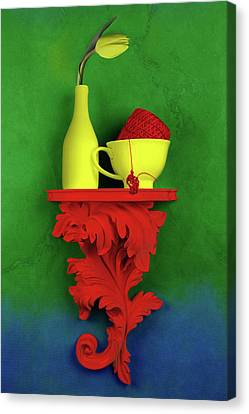 Shelf Canvas Print - Colors by Tom Mc Nemar